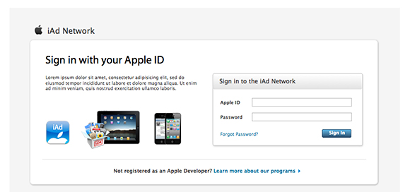 Apple login